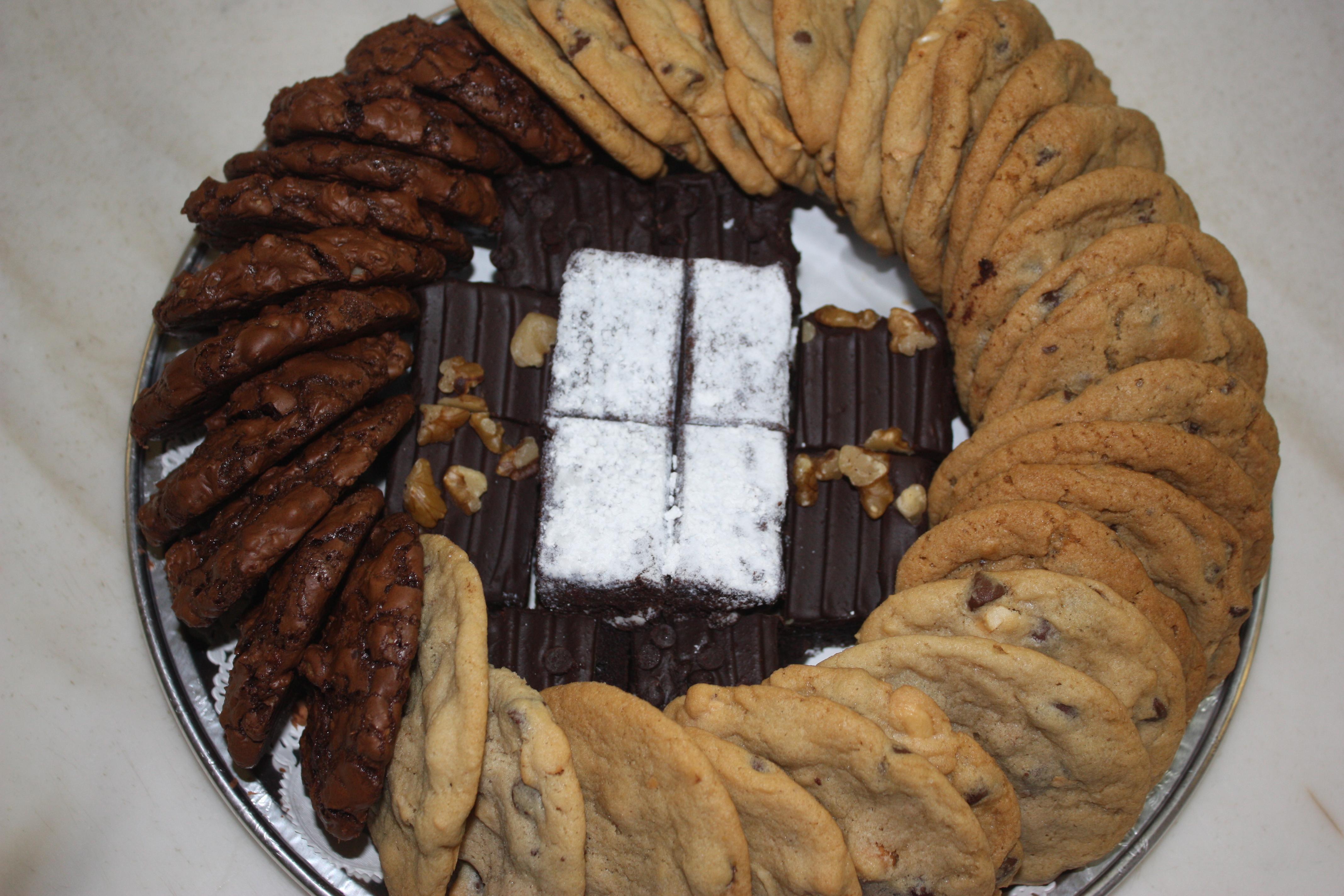 Cookie And Brownie Platter Cookie Brownie Tray